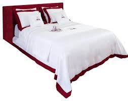 sunset sateen duvet cover and bedding set red and white 240x220 cm traditional duvet covers sets by maison sunberg