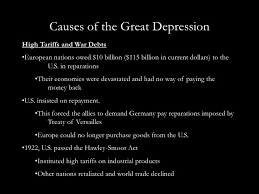 causes of the great depression in essay