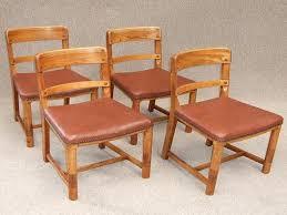 Furniture: Art Deco Dining Chairs Elegant Four Art Deco Oak Dining Kitchen  Chairs - Art