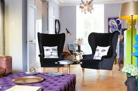 Printed Chairs Living Room Glamorous Black Chair With Amusing Animal Print Cushions With Cute