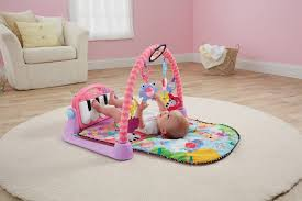 fisher rainforest friends kick and play piano gym pink