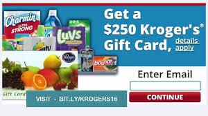 how to get kroger card get a 250 kroger s gift card