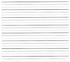 Lined Paper Template Word Landscape Notebook Lines Line With