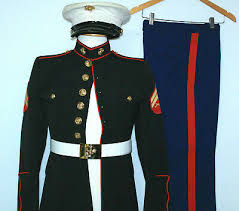 Usmc Dress Blues Size Chart Usmc Us Marine Corps Uniform 1 4 Sleeve Shirt Corporal Size