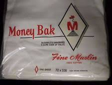 bradley mcdonald s in linens textiles now  vintage money bak by mcdonald s twin size fine muslin flat sheet white nos