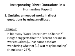 the humanities essay ppt  incorporating direct quotations in a humanities paper