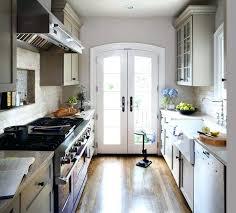 Small galley kitchen Kitchen Ideas Galley Kitchen Design Arched French Doors In Galley Kitchen By Studio Baystatewineco Galley Kitchen Design Baystatewineco