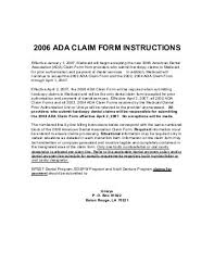 2006 ada claim form natural disaster claim for refund instructions for forms louisiana
