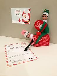 Santa Letter Free Printable Elf on the Shelf full