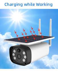 Rainproof 4G Network <b>Solar</b> Camera with 2 way Intercom <b>Solar</b> ...