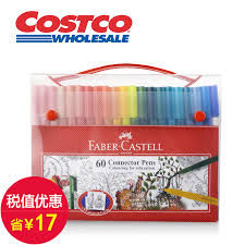 get ations faber castell pen color pen set 60 color connect secret garden limited edition kit costco