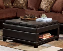 carpet ottoman. dark brown leather convertible ottoman coffee table with bookshelf and wooden legs for living room on carpet tiles ideas