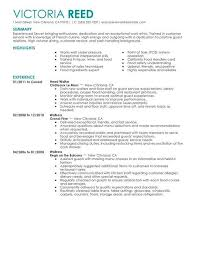 examples of server resumes best server resume example livecareer throughout server resume