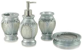 bathroom accessories sets silver. Dream Bath Silver Latern Ensemble 4 Piece Bathroom Accessories Set Luxury Accessory Sets