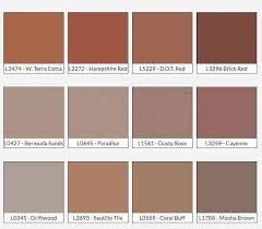 Terra Cotta Color Chart Color Charts Textures Shamrock Concrete