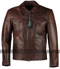 mens drifter vintage brown leather jacket