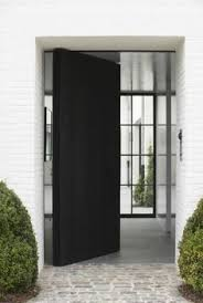 love the door black and white contrast villa h in brakel photo by verne