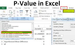 P Value In Excel Examples How To Calculate P Value In