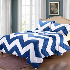 Modern Design Duvet Covers Us 80 3 Modern Style 100 Cotton 3pcs Neat Designs Duvet Cover Set Bright Color Blue And White Stripe Prints Bedding Set Full Queen King In Bedding