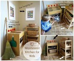 tips for montessori spaces at home life kitchen practical life