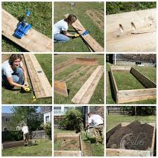 how to build a garden. How To Build A Raised Garden Bed / Step By Plans Www.
