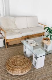 glass end tables for living room. DIY: $100 Glass And Concrete Coffee Table End Tables For Living Room E