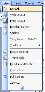 microsoft word menus view menu in ms word 2003 turbofuture