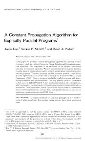 Constant Propagation In Compiler Design Pdf A Constant Propagation Algorithm For Explicitly