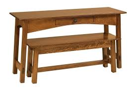 mccoy mission open sofa table with
