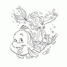 Leuk Voor Kids Ariel De Kleine Zeemeermin Kleurplaten Within