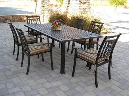 metal rectangular patio dining table
