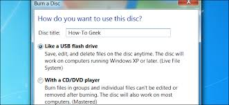 dvd vs cd live file system vs mastered disc formats in windows