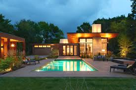 pool house. Modern Ranch With Pool House Makes Merry Retreat In Minneapolis