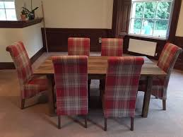 next dining furniture. Next Chiltern Extending Dining Table And 6 Harlow Chairs In Sterling Red Check Fabric Furniture L