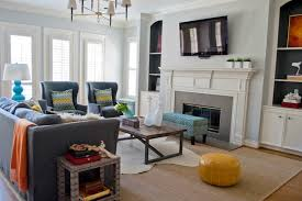living rooms tv over fireplace