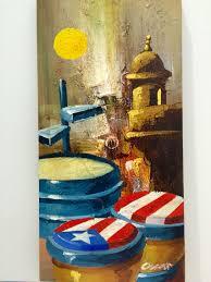 música garita puerto rico abstract oil painting