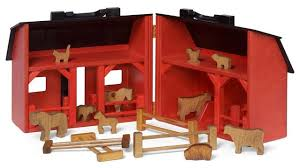 folding toy barn with farm animals fence and feed bags traditional kids toys and by saving shepherd