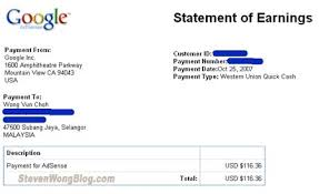Union Adsense Earnings Western Received New Marketing Payment - Media Via For My
