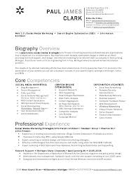 Digital Strategist Resume Social Media Resume Sample Joefitnessstore Com