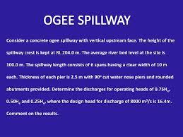 Overflow Spillway Design Example Ppt Spillway Design Powerpoint Presentation Free Download