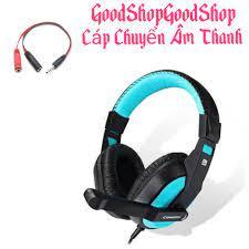 Tai nghe game thủ sành điệu 770 kèm dây cáp chuyển âm thanh ra điện thoại  tiện lợi dùng tốt cho cả điện thoại và pc