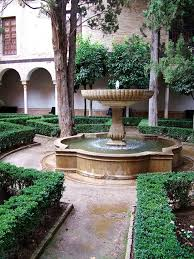 spanish garden courtyard