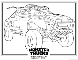 Monster Truck Coloring Pages To Print Free Monster Jam Coloring Page