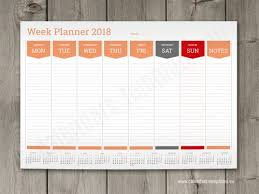 planning calendar template 2018 2018 weekly planners calendar templates wall or desk week planners