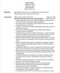 customer service objective resume example customer service representative resume 9 free sample example