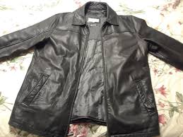 details about pelle studio black men s leather jacket coat medium zipper design w thinsulate