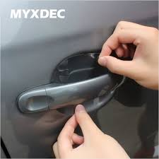 8pcs universal invisible car door handle scratches automobile shakes protective vinyl protector films car handle protection