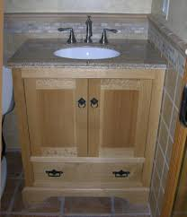 Kitchen Cabinets Used As Bathroom Vanity Home Design Ideas - Oak bathroom vanity cabinets