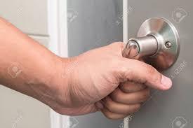 man hand open door stock photo 50454224