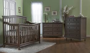 green baby furniture. Brown Wooden Munire Crib On Floor Matched With Olive Wall Plus Dresser For Nursery Green Baby Furniture O